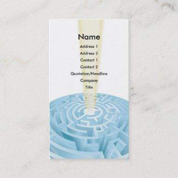 maze business card background design