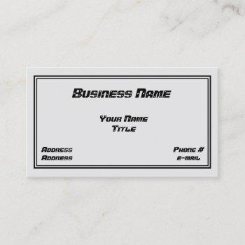 mechanic & auto body design business card