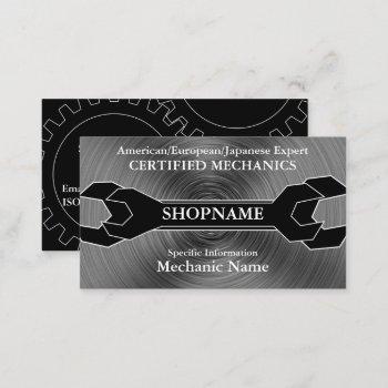 mechanic/auto shop business card