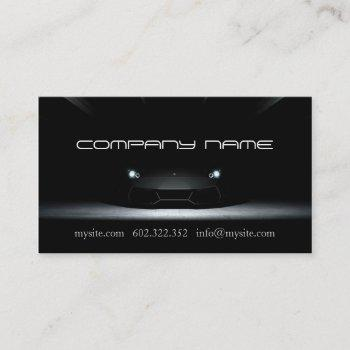 mechanic automotive black  car business card