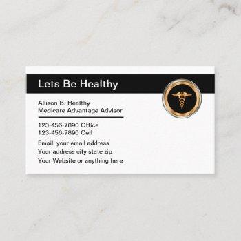 medical advisor healthcare theme business card