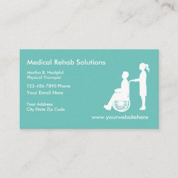 medical rehabilitation services business card