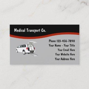 medical transport vehicle business card