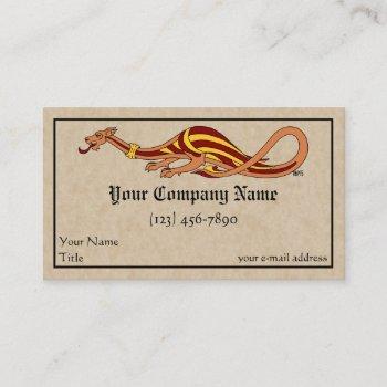 medieval dragon design 2015 business card