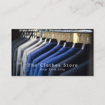 men's suits, fashion/designer, model/agency business card