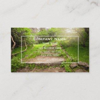 mental health professional natural business card