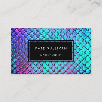 mermaid texture business card