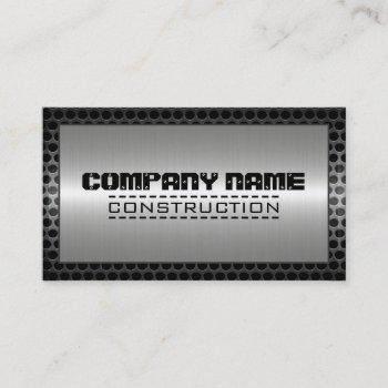 metal border construction elegant steel look #14 business card