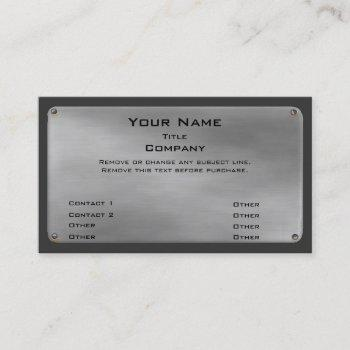 metal business card ii -silver-