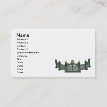metal curved fence business card