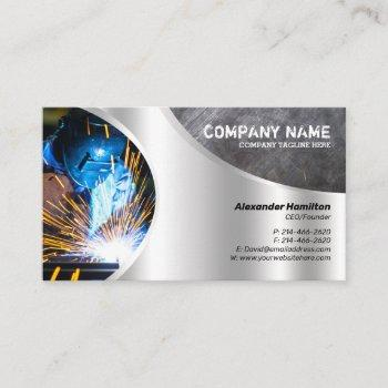 metal finish business card