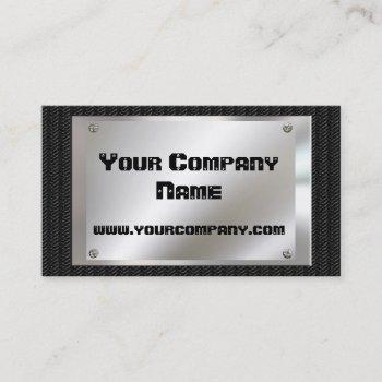 metal look  black carbon fiber business cards