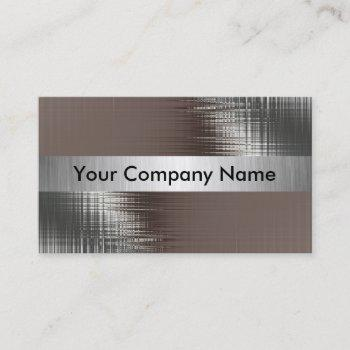 metal look business cards with class