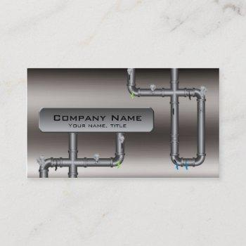metal tubing design plumber profile card