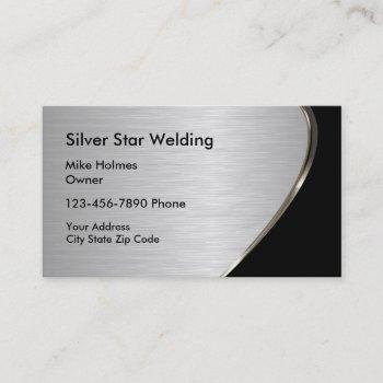 metallic look welding business cards