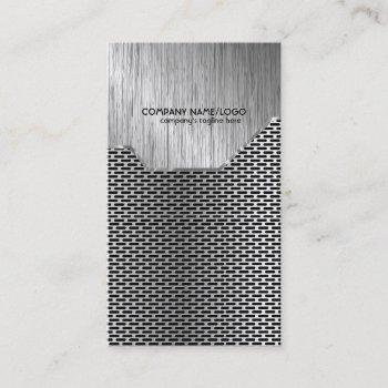 metallic mash and brushed steel  business card