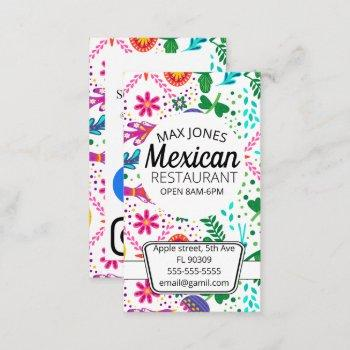 mexican food fruit deli market fold craft business card