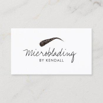 microblading eyebrow symbol permanent makeup card