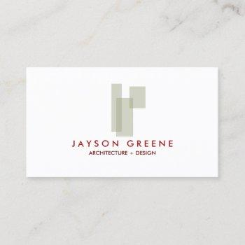 mid-century box logo (taupe) business card