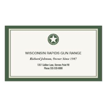 Small Military Style Patriotic Star Grunge Logo Business Card Back View