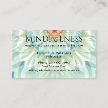 mindfulness beautiful design business card
