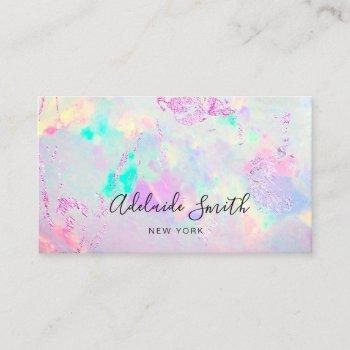 mineral gemstone opal photo business card