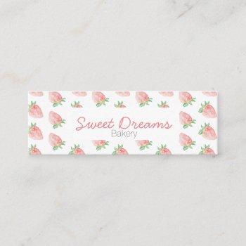 mini strawberry business card