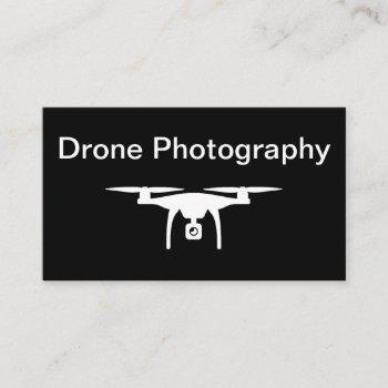 minimal design drone photography business card