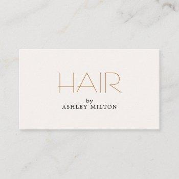 minimal elegant light pastel hairstylist business card