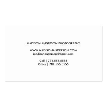 Small Minimal Overlay   Photography Business Cards Back View