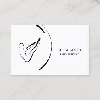 minimal pilates instructor pilates poses business card