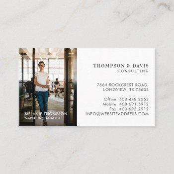 minimal & professional employee business photo business card