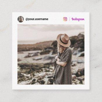 minimal white modern photo social media instagram calling card