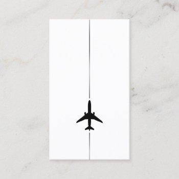 minimalist aviation business card