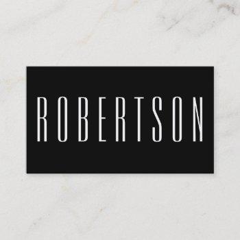 minimalist black and white modern business card
