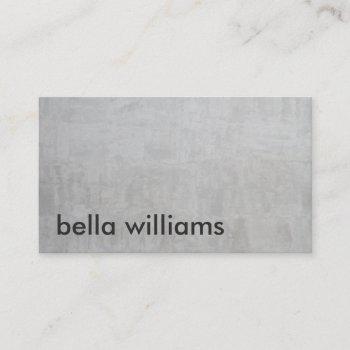 minimalist black modern gray cement professional business card