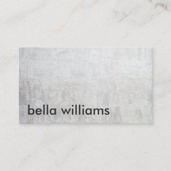 minimalist black modern light gray cement concrete business card