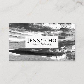 minimalist black white  paint stripe business card