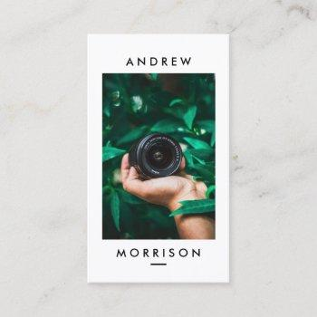 minimalist camera photographer business card