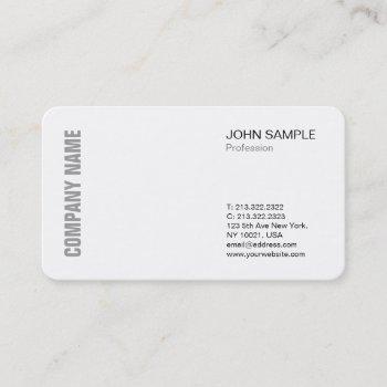minimalist chic modern professional  design white business card