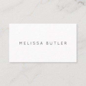 minimalist chic professional black and white business card