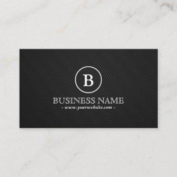 minimalist dark monogram driver business card
