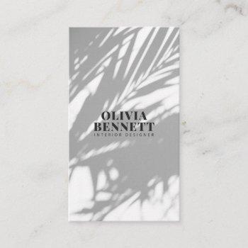 minimalist elegant gray modern interior designer business card