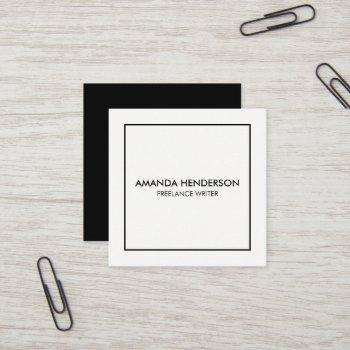 minimalist elegant professional square square business card
