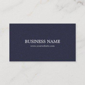 minimalist elegant textured blue consultant business card