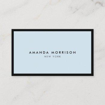 minimalist luxury boutique black/blue business card