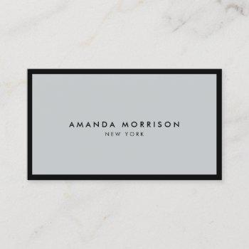 minimalist luxury boutique black/gray business card