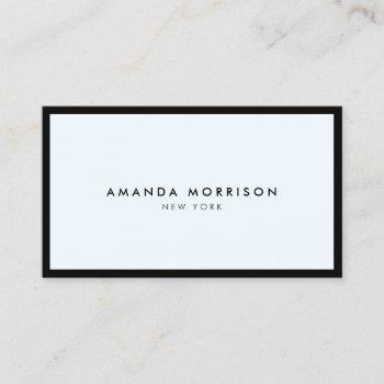 minimalist luxury boutique black/pastel blue business card