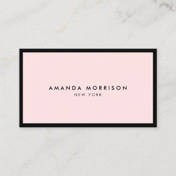 minimalist luxury boutique black/pink business card