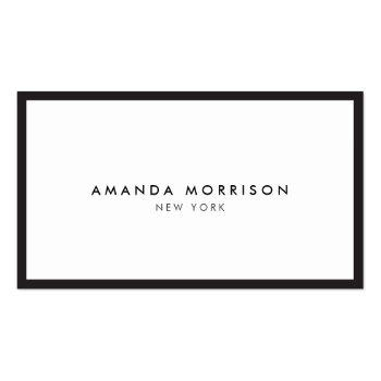 Small Minimalist Luxury Boutique Black/white Business Card Front View